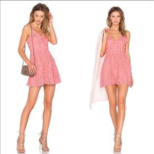 NWT NBD Give It Up Dress in Pink Sorbet